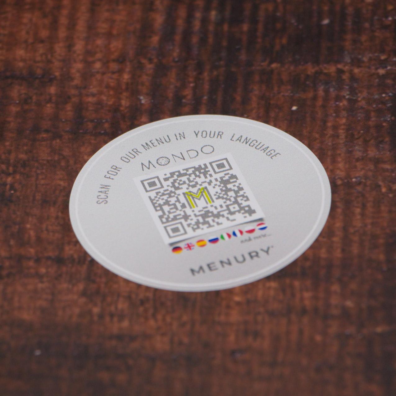 digitale kontaktlose speisekarte