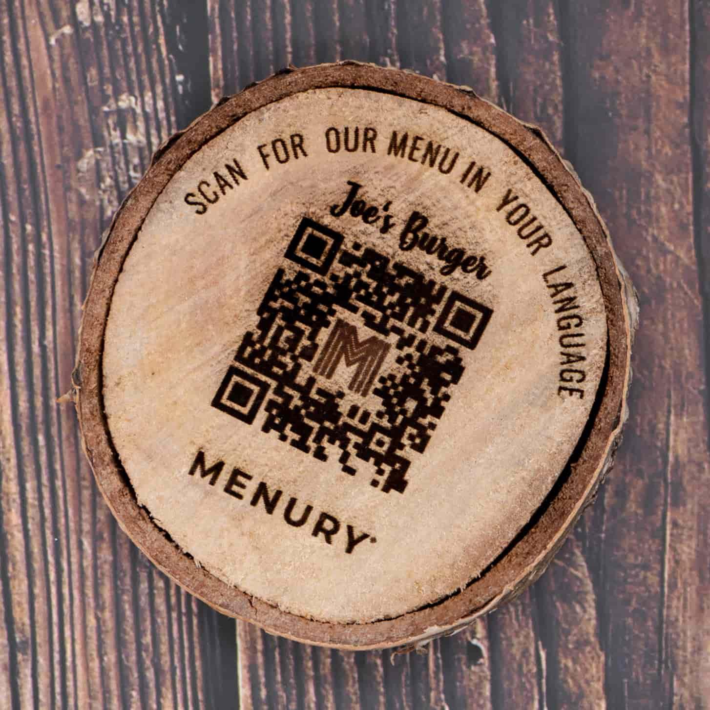 Restaurant QR code aufsteller kontaktlose digitale speisekarte