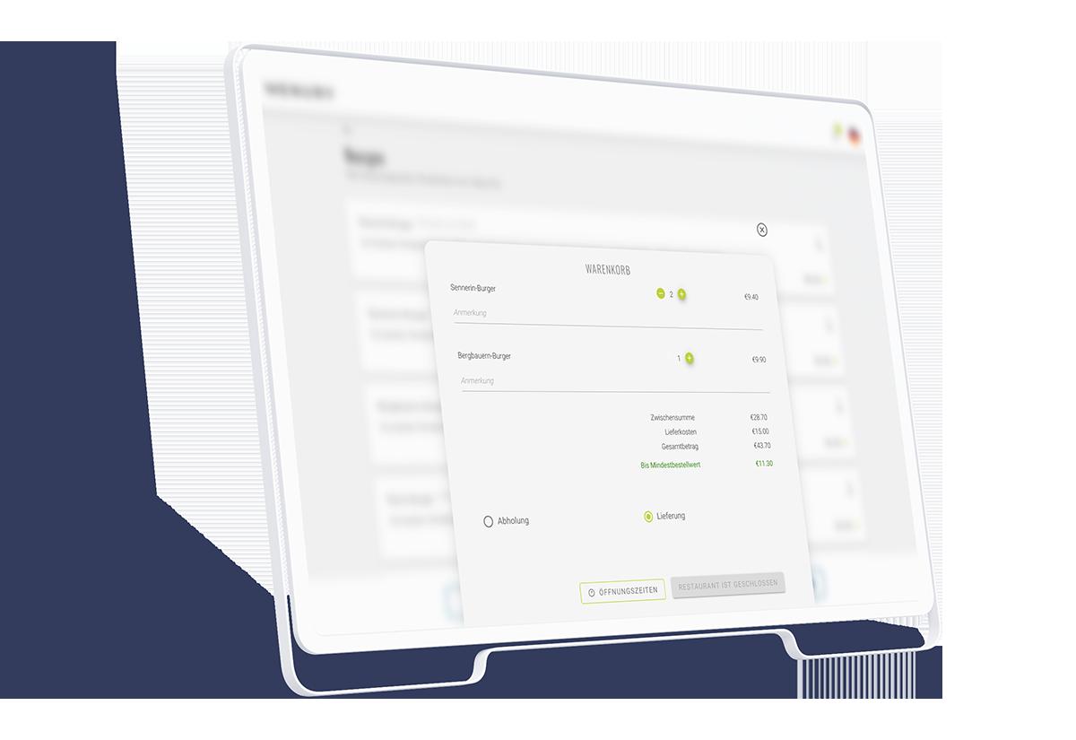 Bestellsystem für Restaurants online