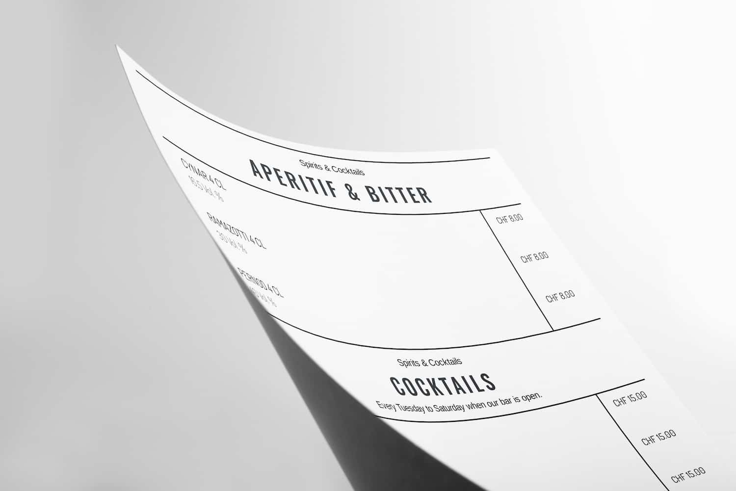 Design your Menu online as pdf